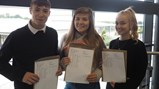 GCSE Results Day 2018 - Sam, Gabrielle and Sophie