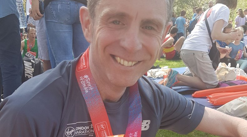 Mr Stainsby completes London Marathon